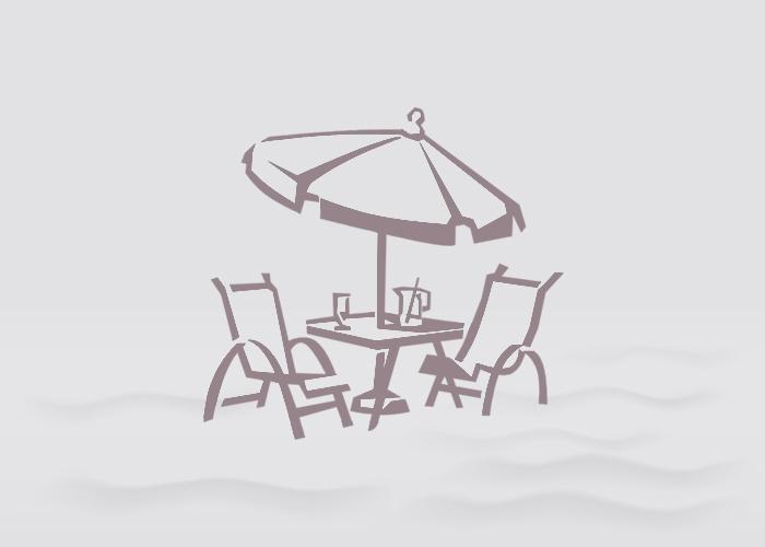 6' Cafe & Bistro Market Sunbrella Umbrella - Shoreflame w/ Dark Wood Pole
